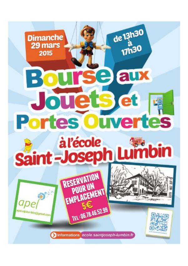 Flyer Bourse aux jouets-Portes ouvertes 2015