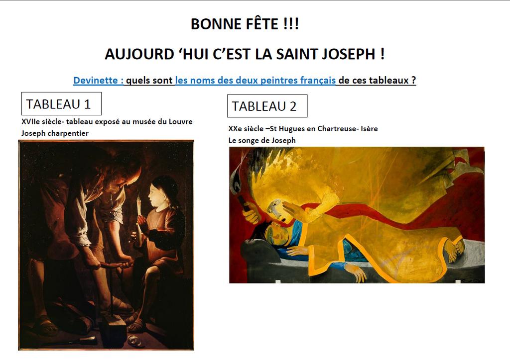 2 tableaux Saint-Joseph