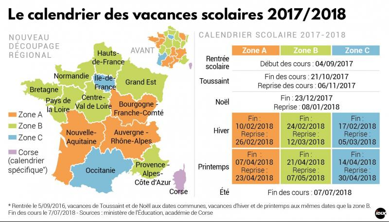 calendrier vacances dauphine
